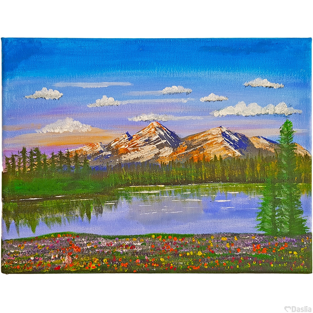 Alpine Forest Canvas Painting