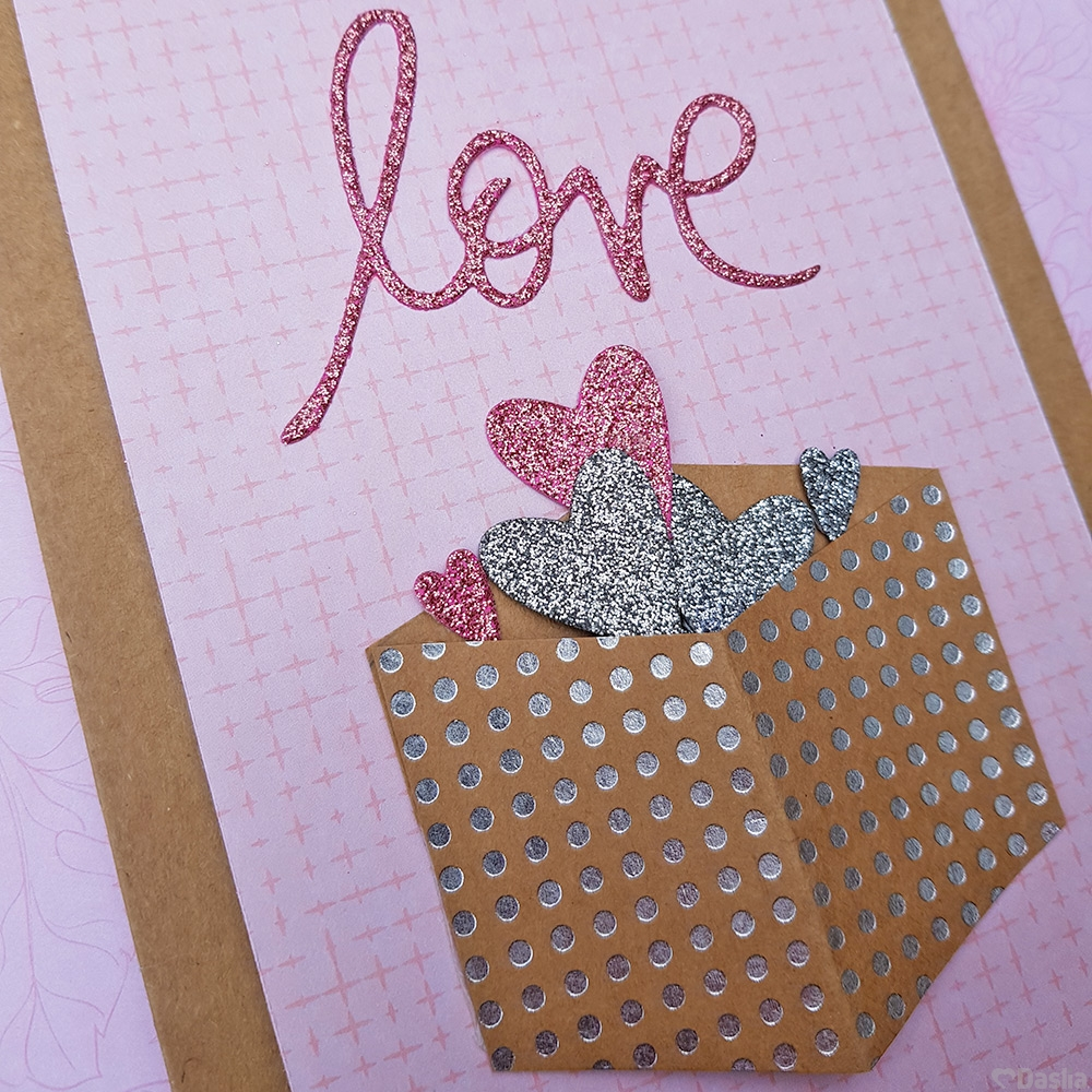 Pull Tab Pink Love Interactive Card