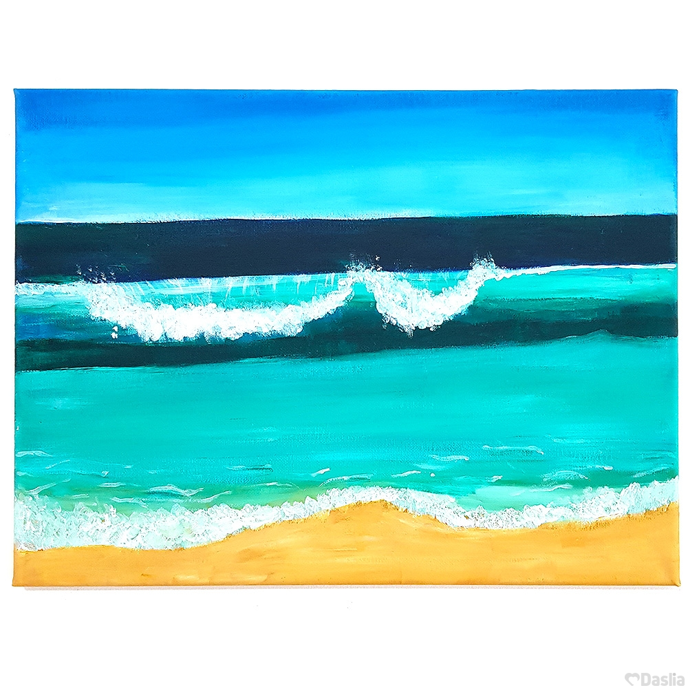 Coastal Waves Canvas Painting