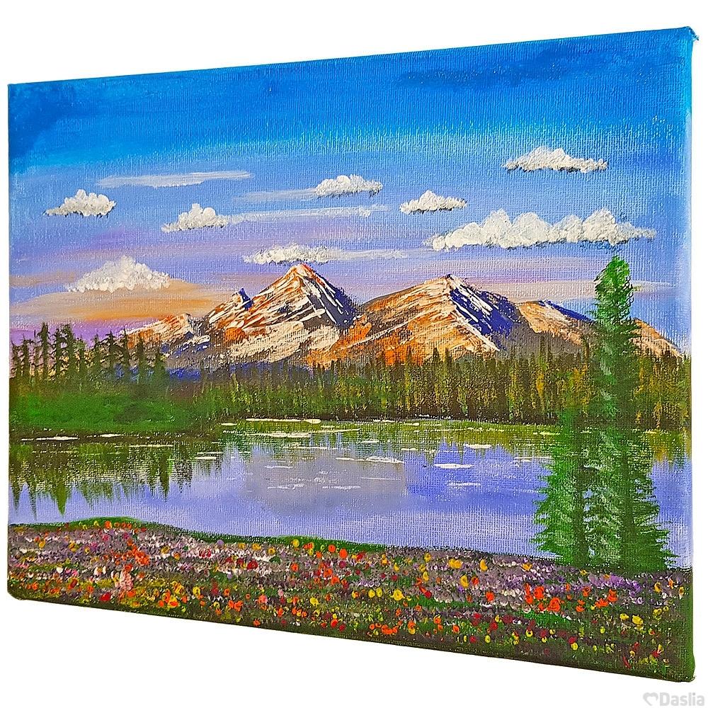 Alpine Mountains Painting