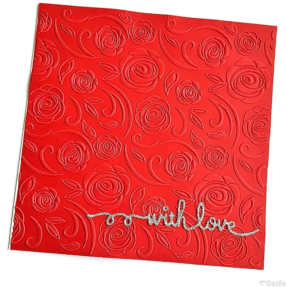 Embossed Rose With Love Card