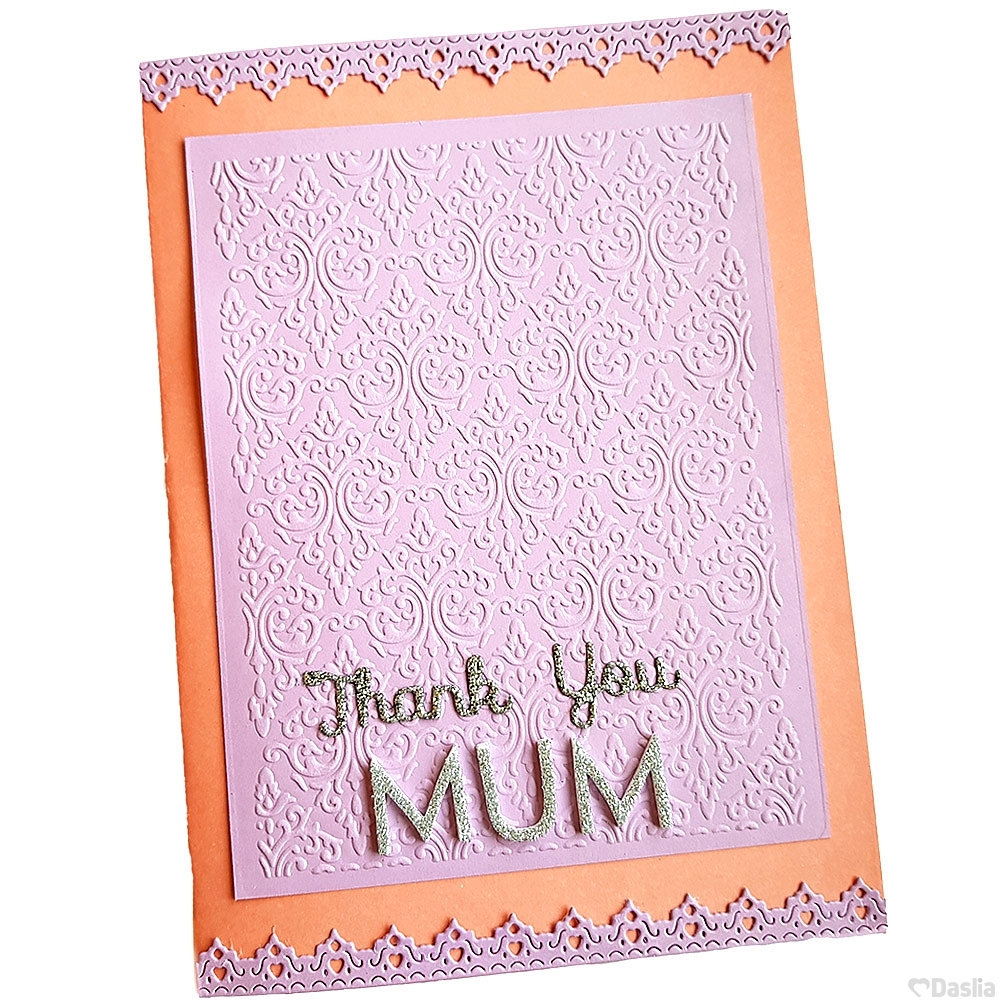 Embossed Thank You Mum Card