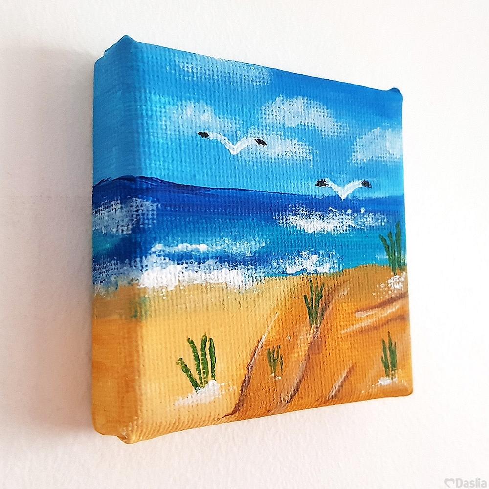Mini Gulls Beach Painting