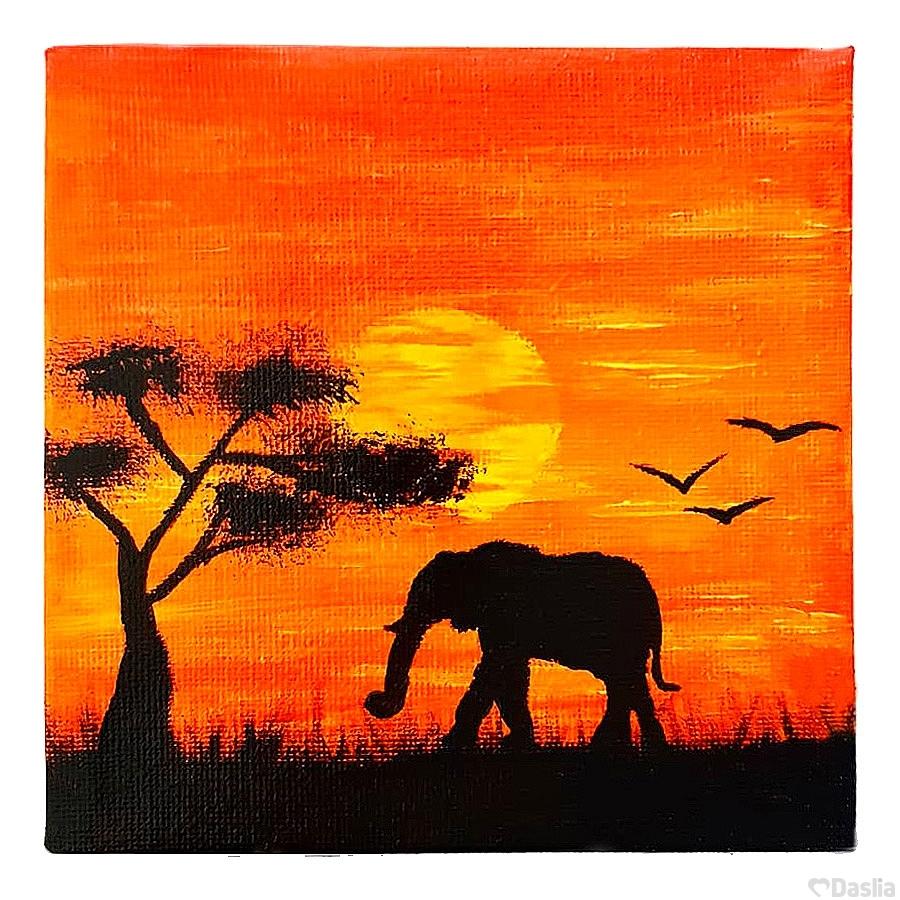 Mini Sunset Savannah Painting