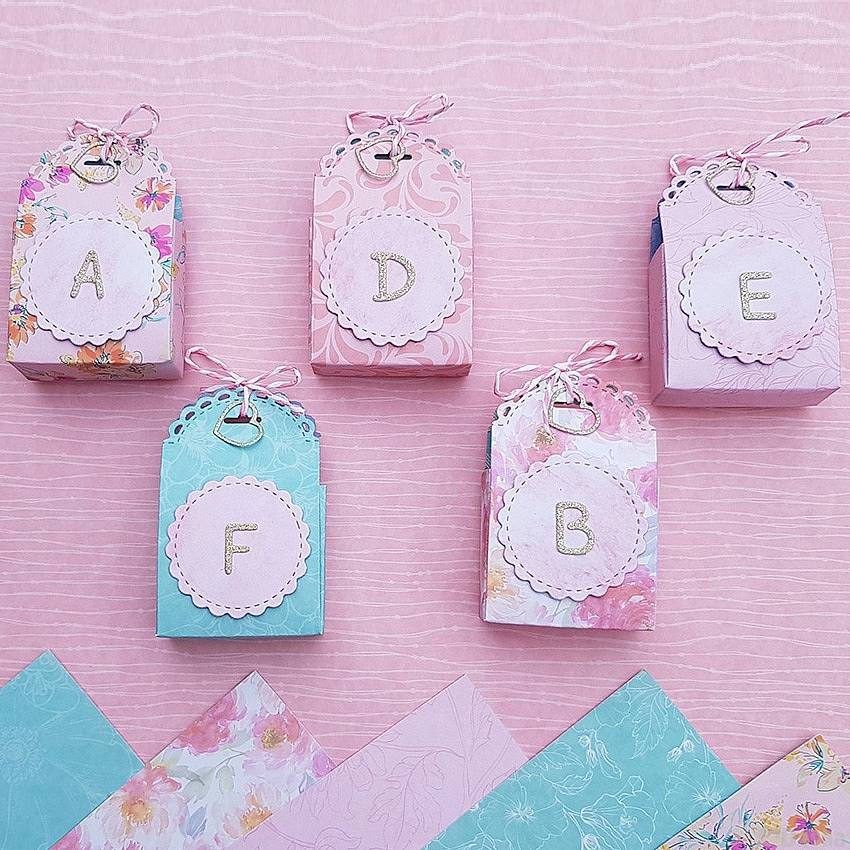 Pastel Personalised Letter Gift Boxes