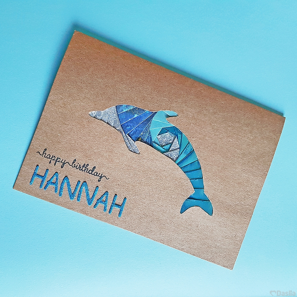 Personalised Dolphin Iris card