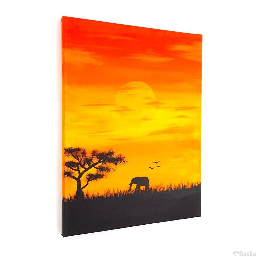 Sunset Savannah Painting