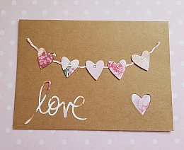 Floral Hearts Love Card