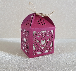 Heart Wedding favour Boxes