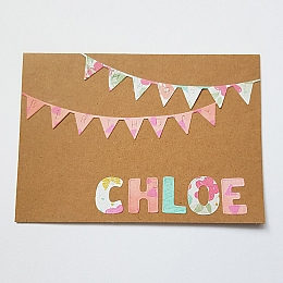 Personalised Birthday Bunting Card