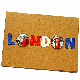 London Greetings Card With Embellishments