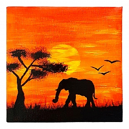 Mini Sunset Savannah Painting